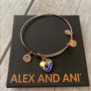 Alex and Ani Rose Gold Heart Bracelet